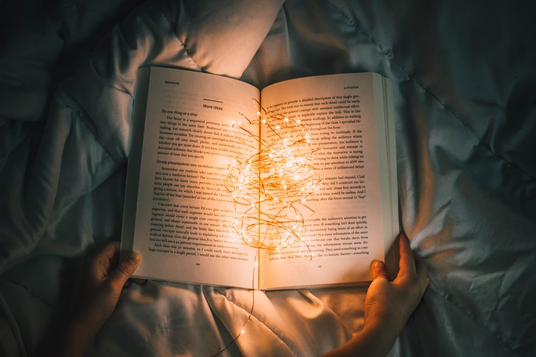 String Lights on Book - 25 Quotes from Books to Motivate You