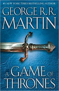 Netflix Novels: Game of Thrones book cover with sword