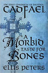 A Morbid Taste for Bones - Book Cover with a Cross